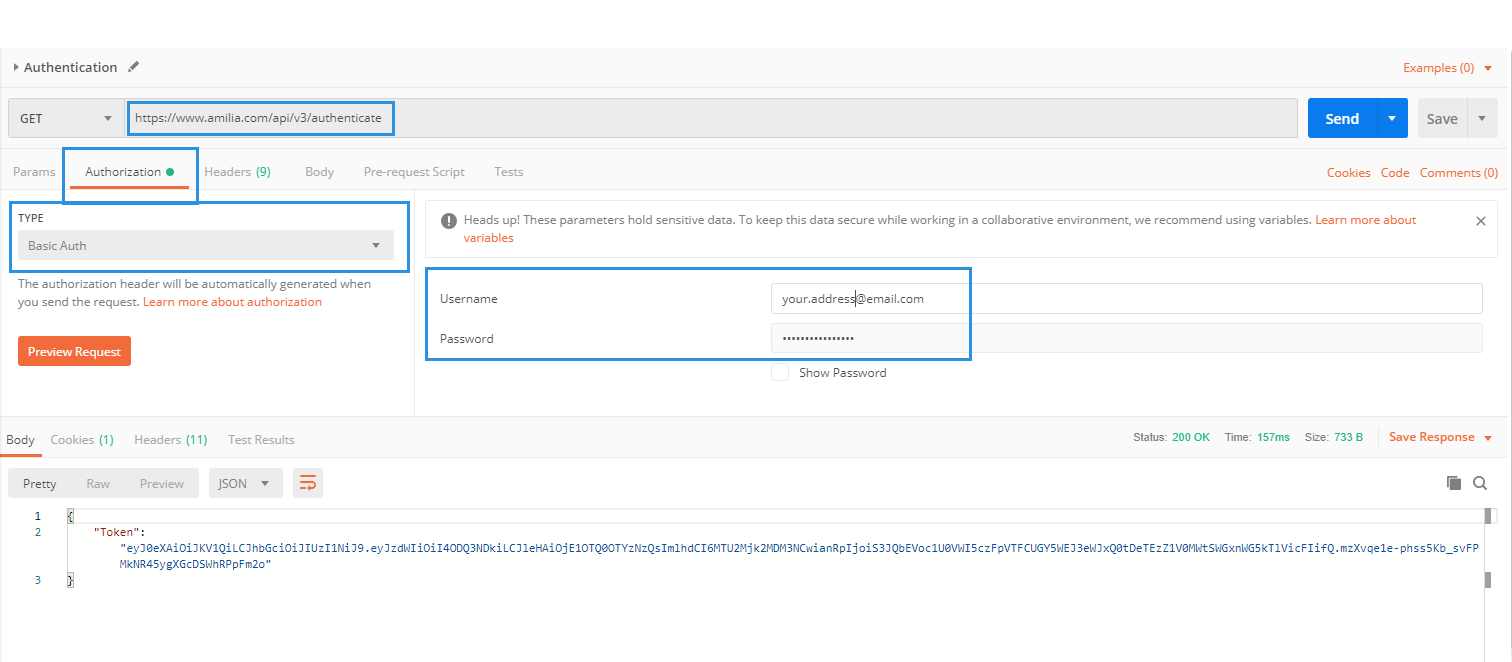 Authenticating with Postman